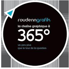 Logo 365 degré Roudenn Grafik
