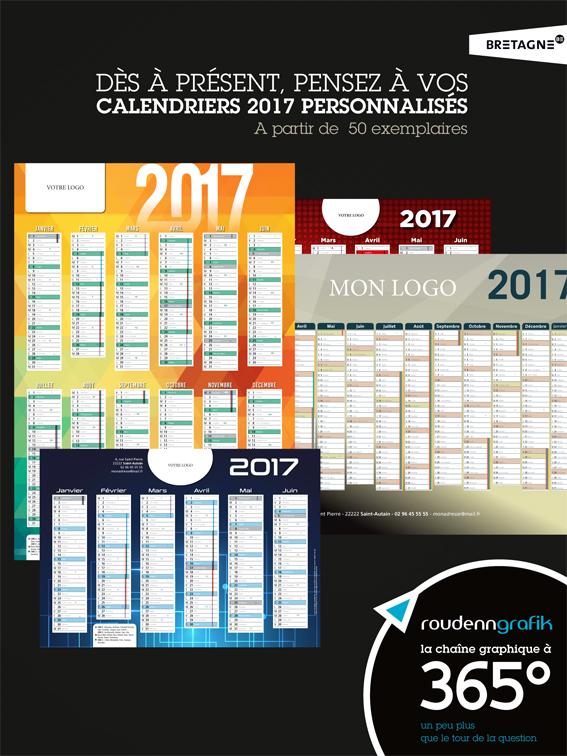 Affiche sur les Calendriers 2017