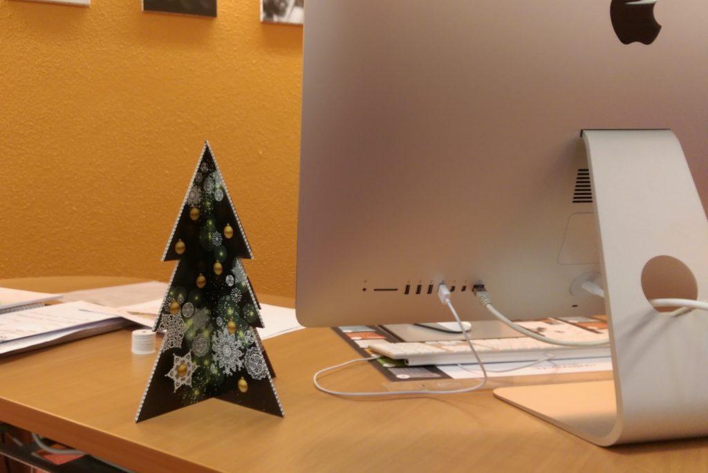Sapin de bureau de Noël