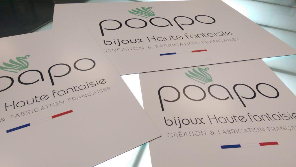 Panneaux PoaPo Vinyle contre collé Bond satiné