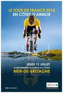 Affiche Tour de France du Département des Côtes d'Armor