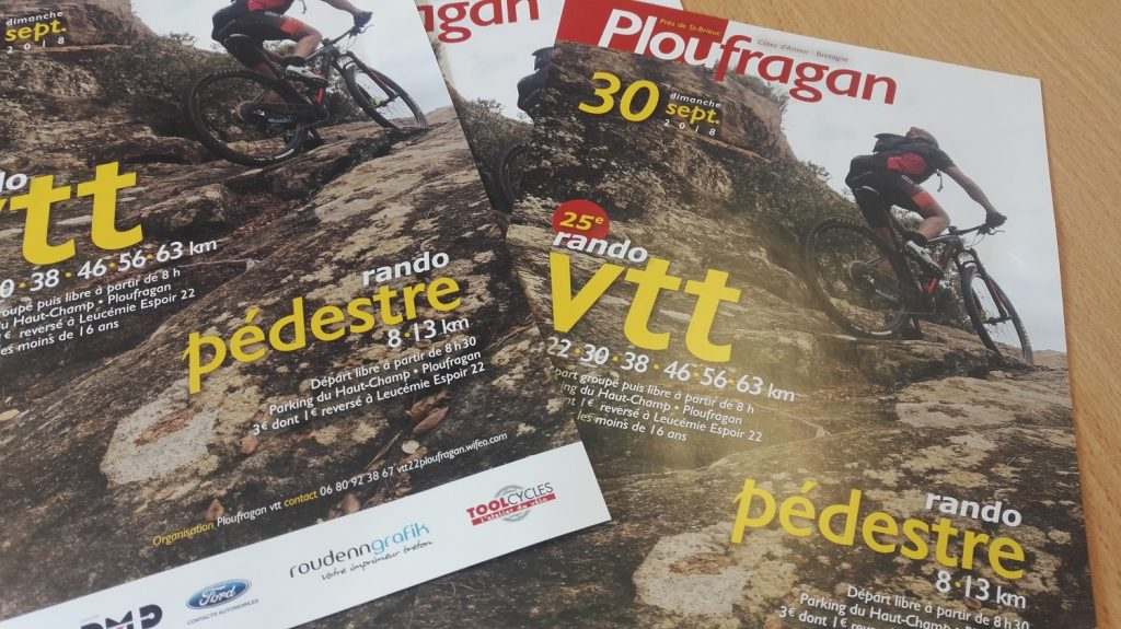 Flyers Leucémie Espoir 22 Ploufragan Randonnées VTT Pédestre