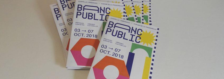 Dépliants du Festival Banc Public 2018