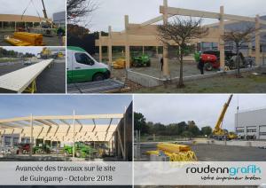 Avancées des travaux - Site de Guingamp - octobre 2018