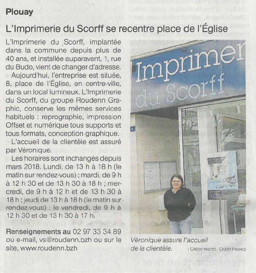 L'imprimerie du Scorff se recentre place de l'Eglise - Plouay - Ouest-France