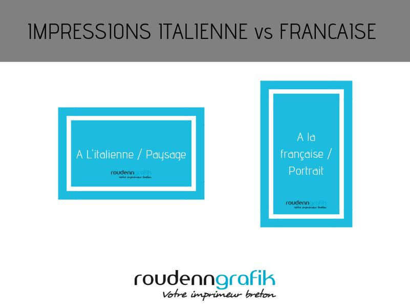 A l'italienne A la francaise Roudenn Grafik