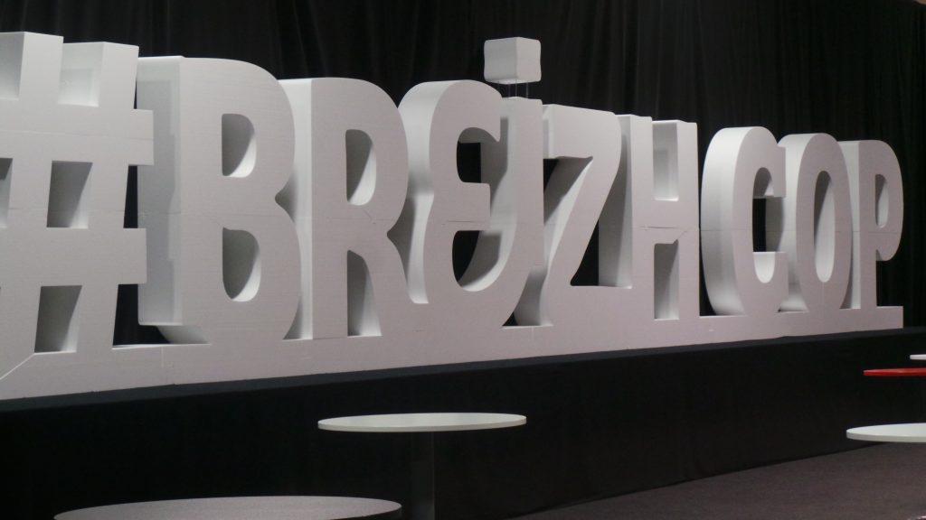 Lettres géantes - BreizhCop 2019