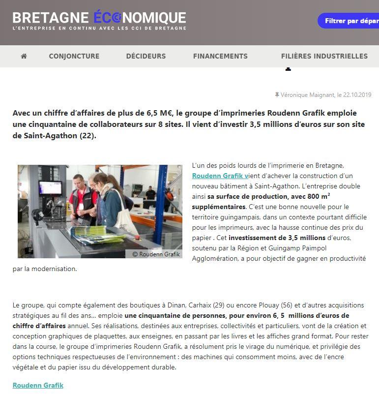 Octobre 2019 - Bretagne Economique