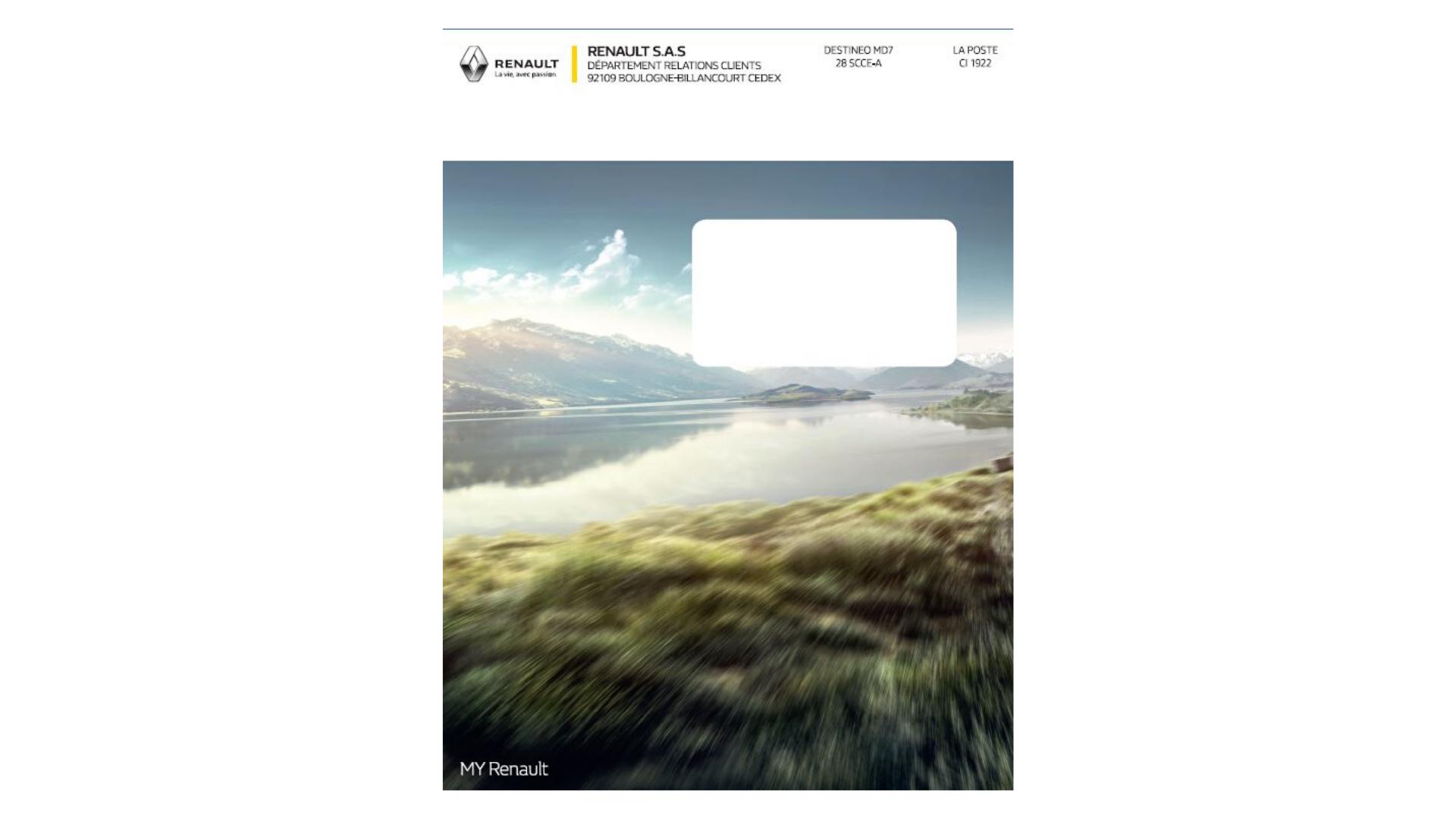 Renault - Impression de facing avec découpe et évidage d'une fenêtre pour 200.000 ex